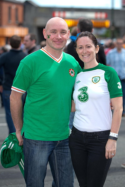 Ireland fans Alan and Elaine Kilduff Ma©INPHO/Morgan Treacy