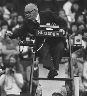 An umpire in the 1980 Wimbledon tournament. Picture: Getty Images