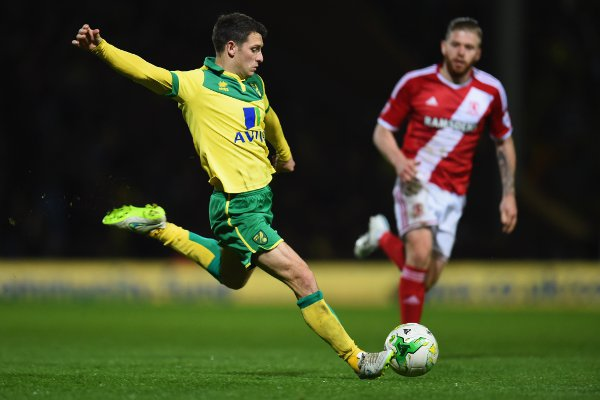 Hoolahan is back in the Premier League with Norwich after a season in the Championship (Picture: Getty)