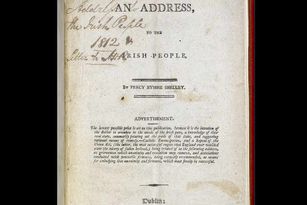 Shelley's rare pamphlet costs £100,000. Picture via The British Library