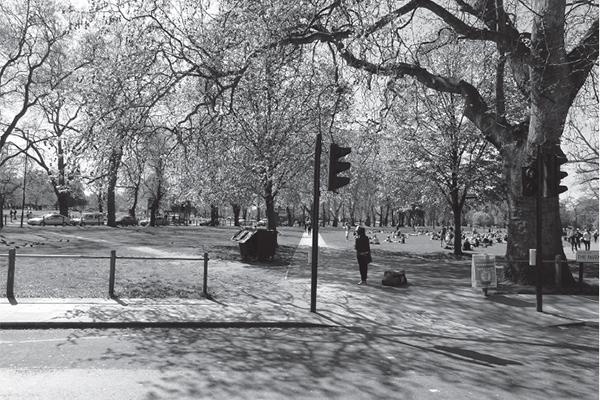 Clapham Common, the scene of Kelly's arrest