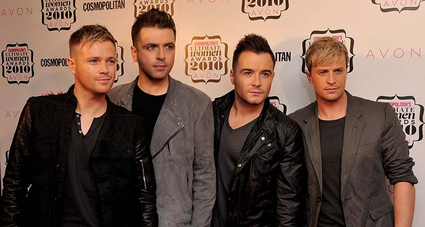 Nicky Byrne, Mark Feehily Shane Filan and Kian Egan of Westlife in London, England.  (Photo by Gareth Cattermole/Getty Images)