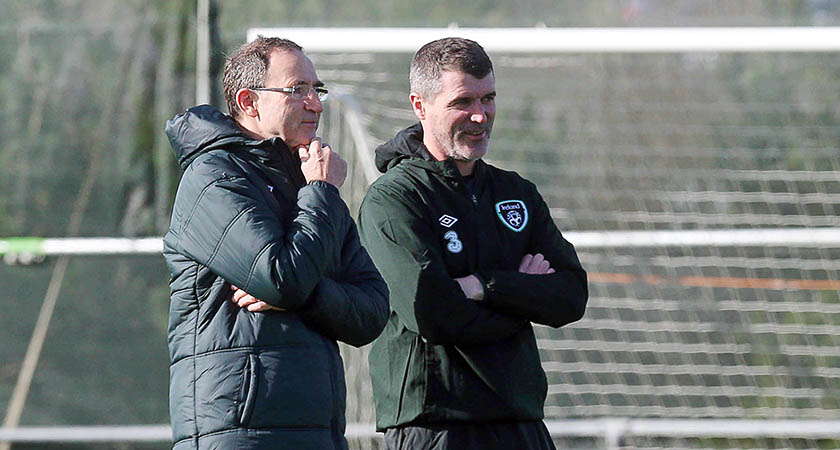 Martin O'Neill and Roy Keane must prepare for Bosnia [Picture: Inpho]