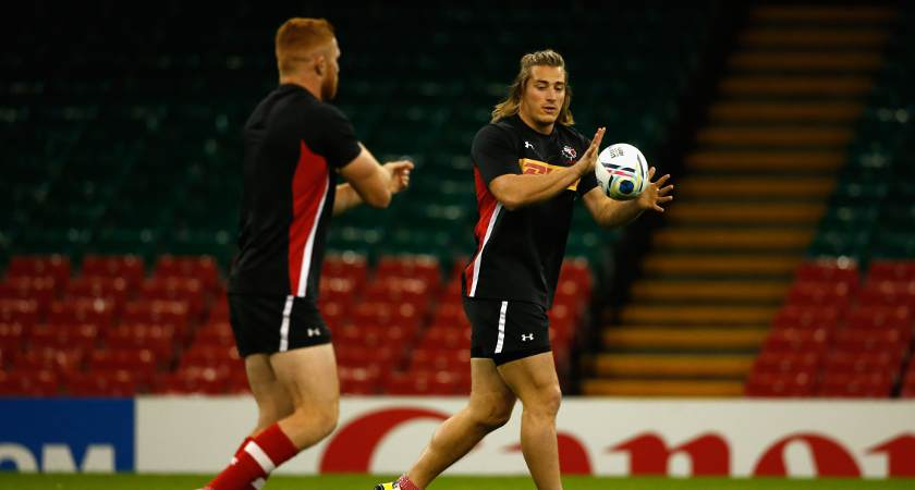 Canada's players in training after arriving in Britain [Picture: Getty]