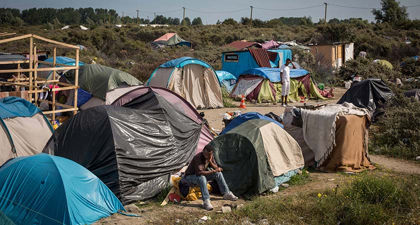 A make shift camp near the port of Calais (Photo by Rob Stothard/Getty Images)