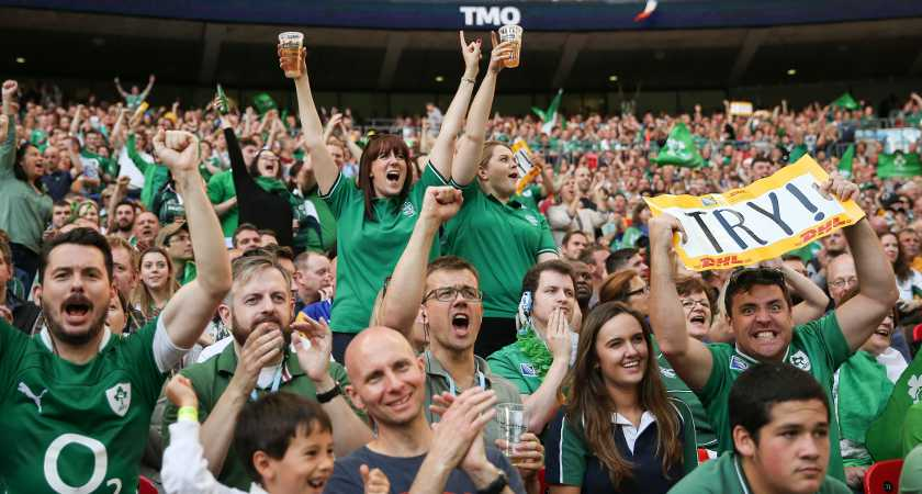 Record-breaking Ireland fans at Wembley [Picture: Inpho]