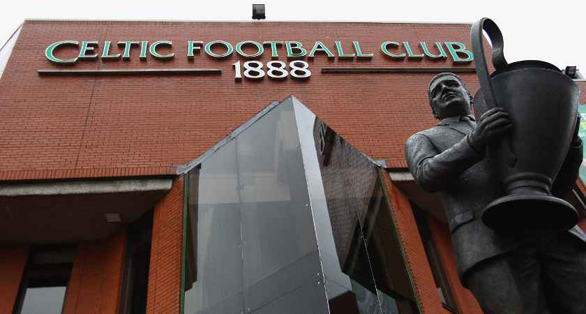 GLASGOW, SCOTLAND - SEPTEMBER 13:  A statue of Jock Stein stands outside Celtic Park on September 13, 2011 in Glasgow, Scotland. Celtic will now face Atletico Madrid in the group stages of this season's Europa League after governing body UEFA rejected Swiss club FC Sion's appeal against expulsion from the competiton for fielding a number of ineligible players. (Photo by Jeff J Mitchell/Getty Images)