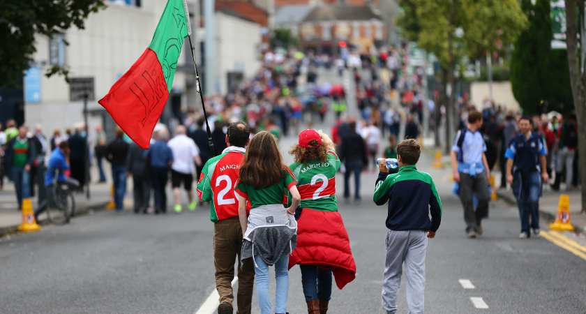 Mayo fans en route to Croke Park for the first meeting with Dublin [Picture: Inpho]