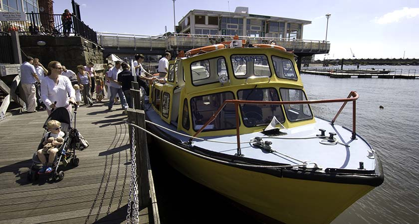 Water taxi at Cardiff Bay  (All images © Crown copyright Visit Wales)
