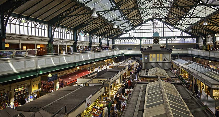 View from first floor of  Cardiff Indoor Market  (All images © Crown copyright Visit Wales)