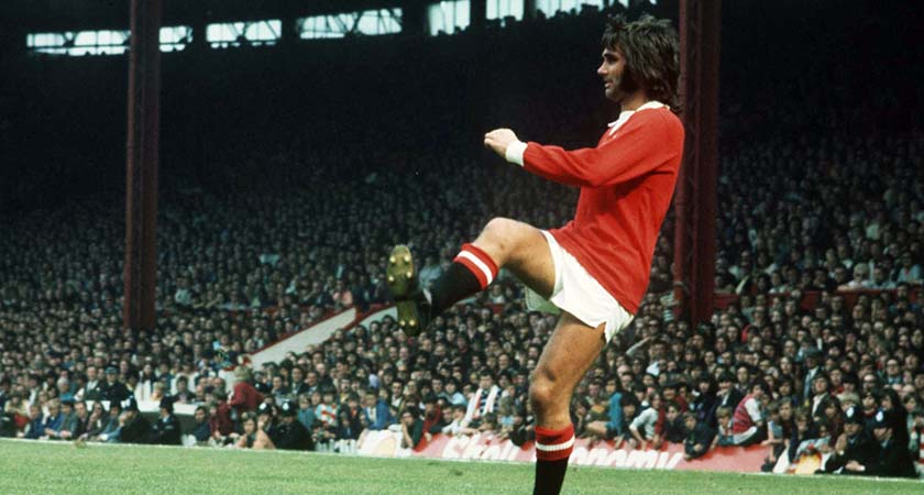 George Best in 1972 playing for Manchester United (©INPHO/Allsport)