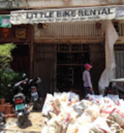 Mr O'Brien's bike rental shop in Phnom Penh