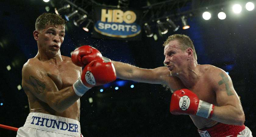Famed fighter Micky Ward, right, was of Irish descent [Picture: Getty]