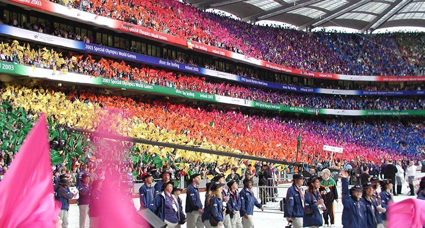 The Special Olympics opening ceremony in Dublin, 2003, was one of the standout moments of Kielty's career