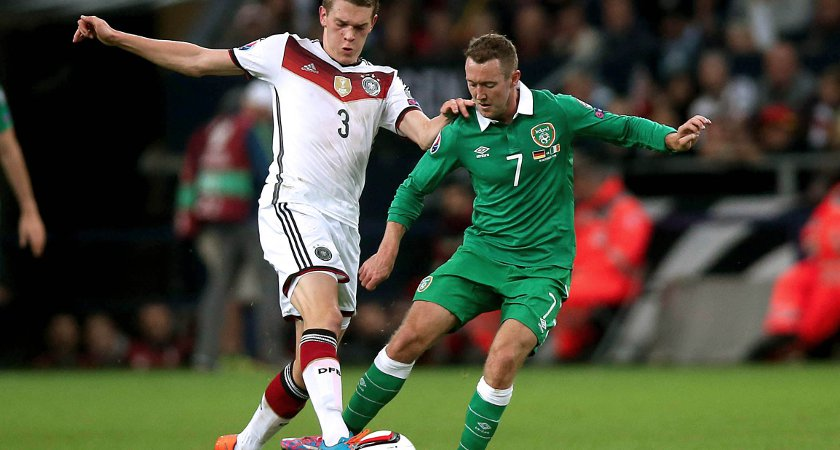 Ireland drew with Germany but have not beaten a European giant since Holland in 2001 [Picture: Inpho]