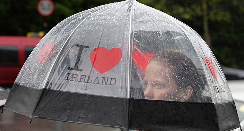 It's only a spot of rain...(Photo Mark Stedman/RollingNews.ie)