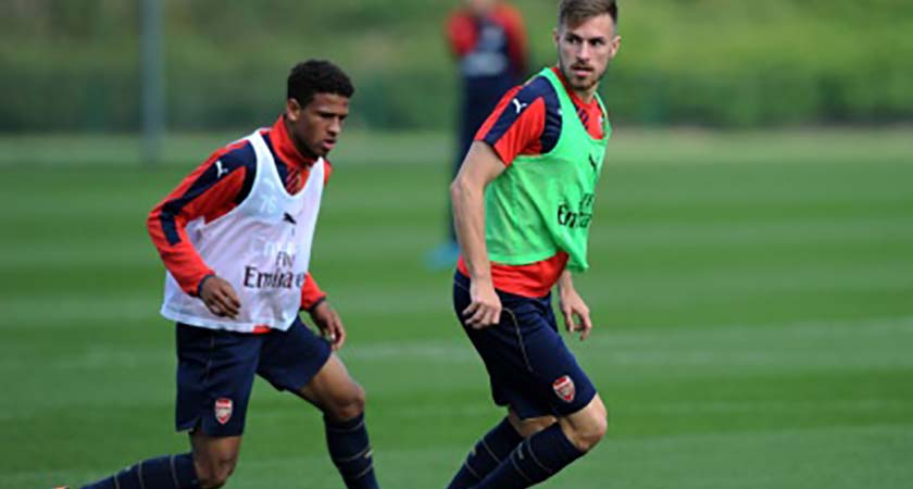Arsenal training in ahead of last Saturday's match against Leicester City (Photo: Arsenal.com)