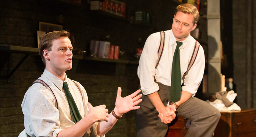 Paul Reid and Rory Keenan in Philadelphia, Here I Come! at the Donmar Warehouse in London