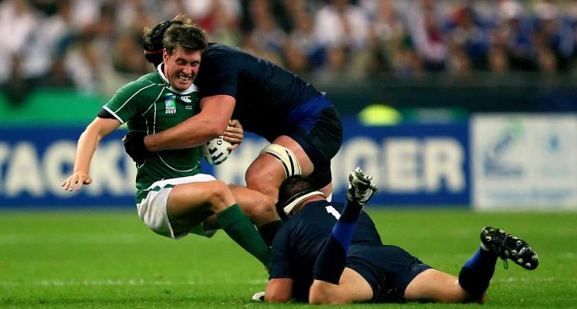 Ronan O'Gara against France in 2007 N