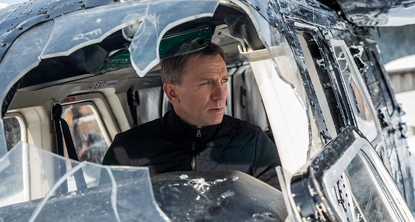 Daniel Craig in the 24th Bond movie, SPECTRE.