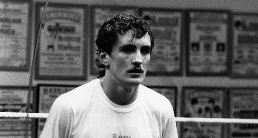 The Irish boxer Barry McGuigan in training.  Original Publication: People Disc - HU0448   (Photo by Express Newspapers/Getty Images)