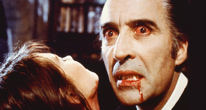 Christopher Lee as the immortal Dracula