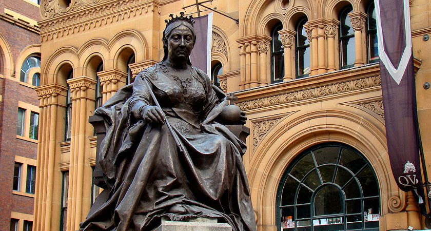 The Queen Victoria statue at her current home. Picture: Wikicommons