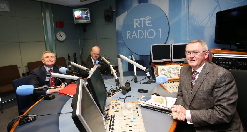 RTE Radio 1 presenter Sean O'Rourke (right) hosts one of the most popular shows on the station. Picture: RollingNews.ie