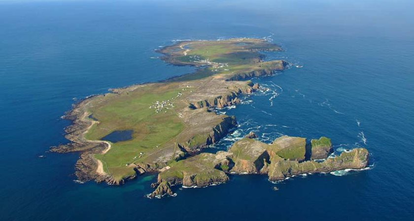 Donegal's Tory Island has an Irish-speaking community. Picture via Highlands Radio