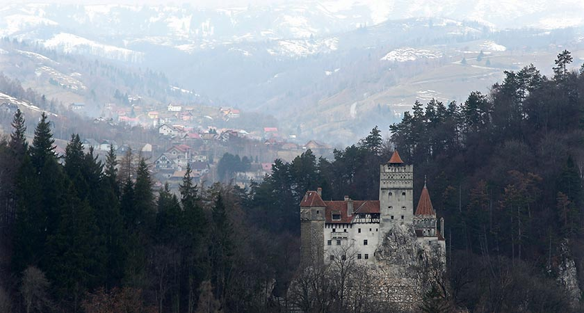 Bran Castle, famous as Dracula's Castle stands among Transylvanian mountains in Romania. The Castle's reputation corresponds little with Bram Stoker's novel, (Photo by Sean Gallup/Getty Images)