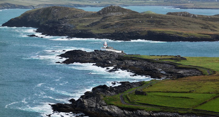 Valentia Island lighthouse off of the coast of Co. Kerry. Picture via Tourism Ireland