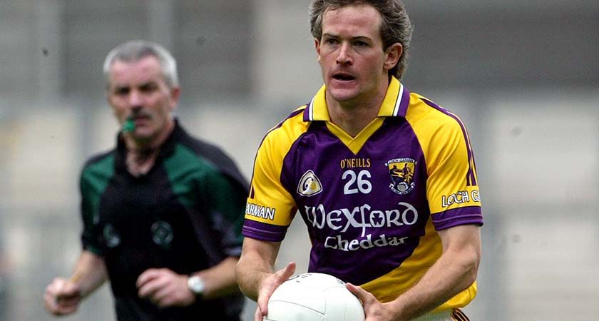 Ciaran Deely in action with Wexford in 2008 [©INPHO/Ryan Byrne]