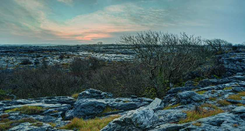 Winter solstice day, Burren National Park. taken from This is the Burren by Carsten Krieger, published by The Collins Press, 2015