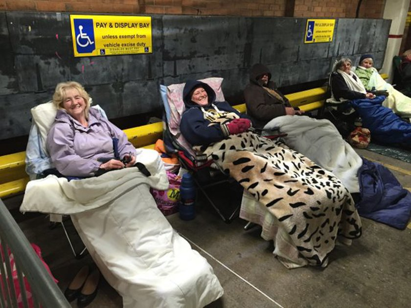 The die hard fans camped for three days. Picture: Twitter/The Bournemouth Echo