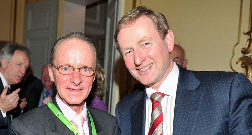 Taoiseach Enda Kenny at Western Development Commission reception at Irish Embassy, London, 12/12/2012