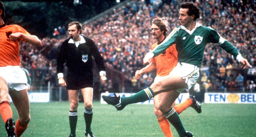 Brady in action against Holland in 1980 [Picture: Inpho]