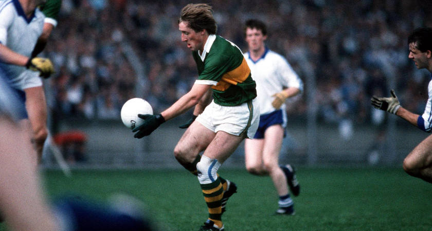 Spillane in action for Kerry against Monaghan in 1985 [Picture: Inpho]