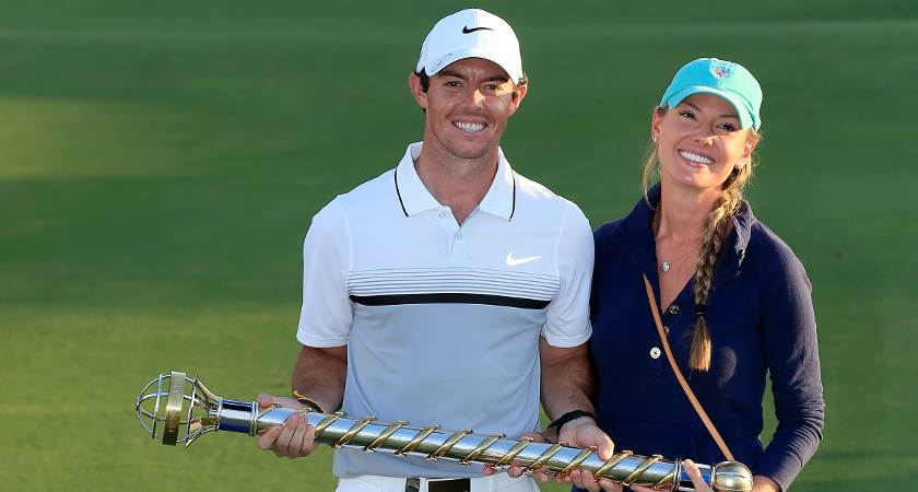Rory McIlroy with partner Erika Stoll [Picture: Getty]
