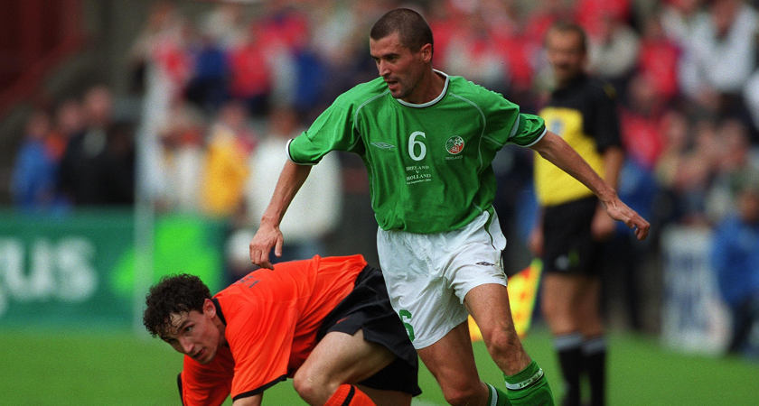 Roy Keane's performance against Holland in 2001 is one of the greatest ever in a green shirt [Picture: Inpho]
