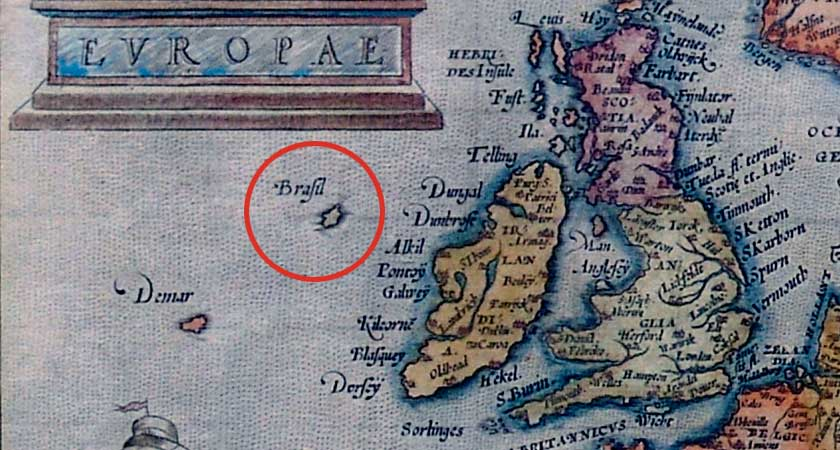 Hy-Brasil included on Abraham Otelius' 16th century map of Europe (Picture: Wikipedia)