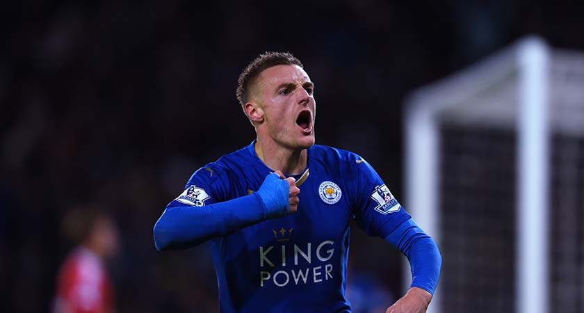 Leicester's James Vardy (Photo by Laurence Griffiths/Getty Images)