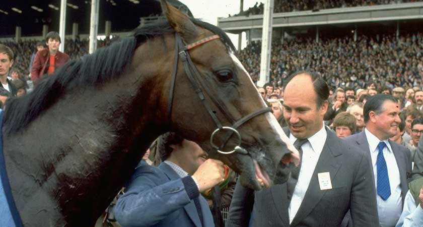 The Aga Khan with Shergar in 1980 (Picture: Getty Images)