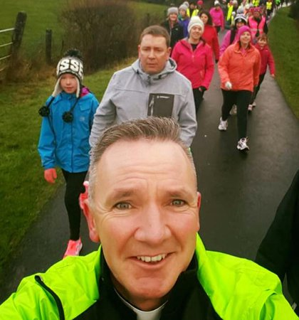 One of Fr Kenny's selfies from the walk