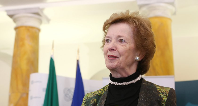 Former Irish President Mary Robinson is downsizing. Picture: Getty Images