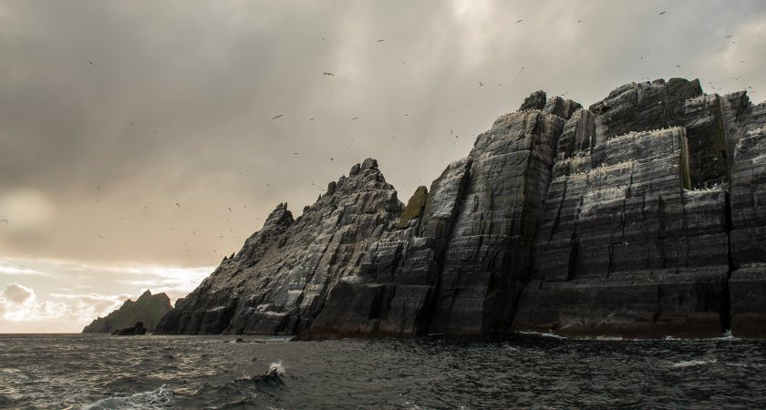 The high rocky edges of the Skelligs. Picture: Tourism Ireland