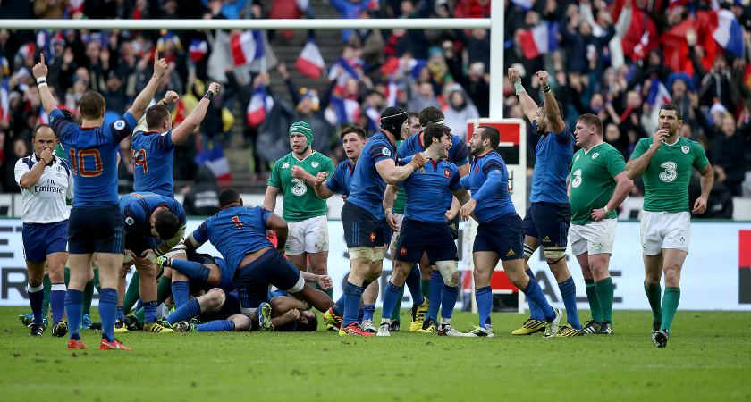 France get over the line towards the end of the game [Picture: inpho]