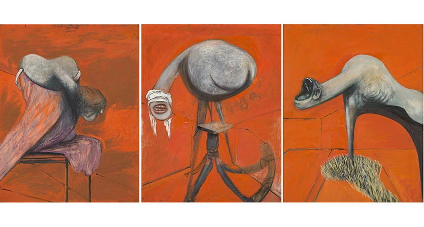 Francis Bacon, Three Studies for Figures at the Base of a Crucifixion c.1944