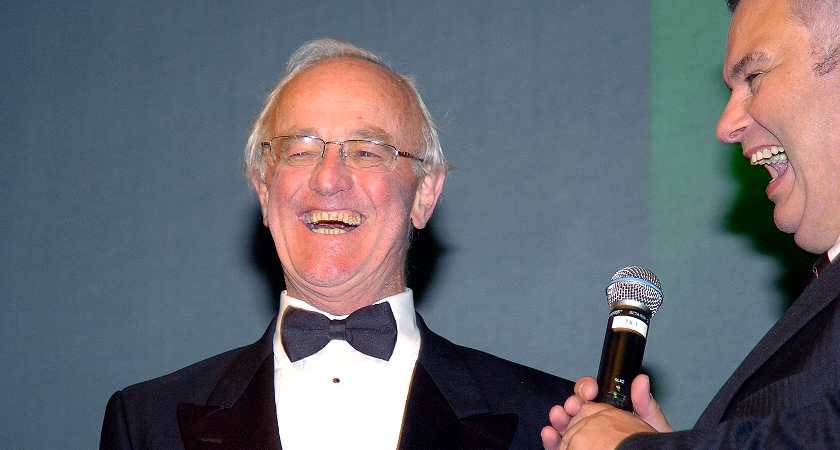 Irish actor Frank Kelly and his wife Bairbre at the Irish Post Awards 2008