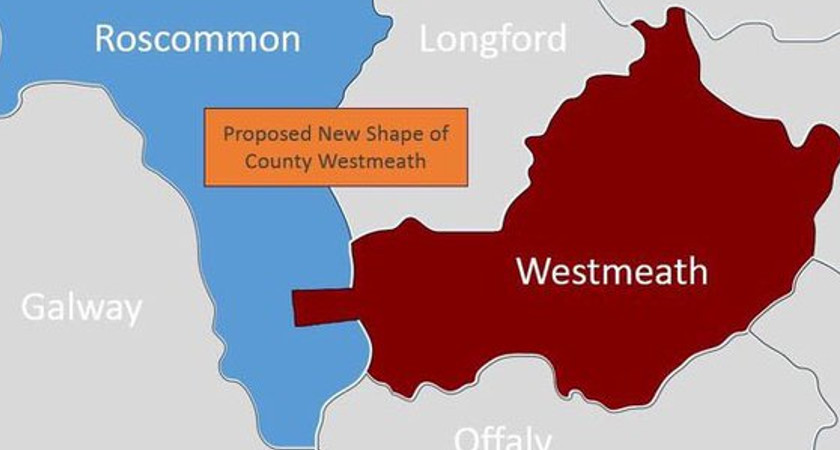 The proposed new county boundaries. Picture via Twitter/@GLEESONLP