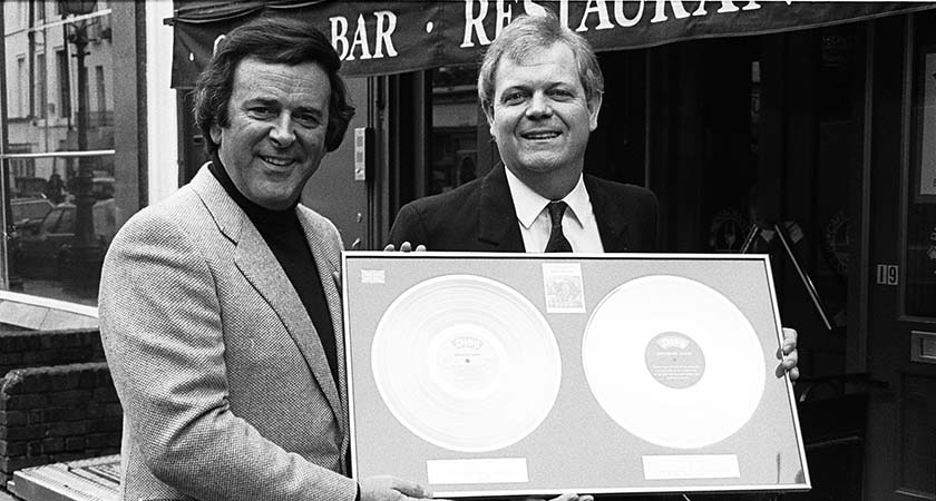 Terry Wogan and Brendan Shine, London, 1987